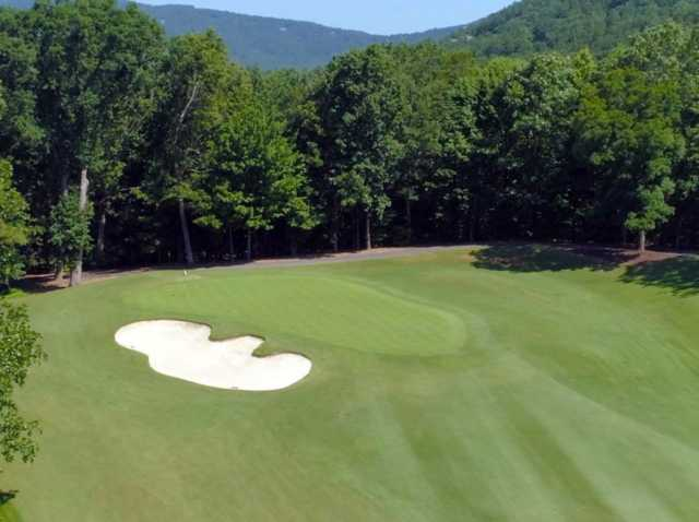 A view of the green #6 from Choctaw at Big Canoe Golf Club.