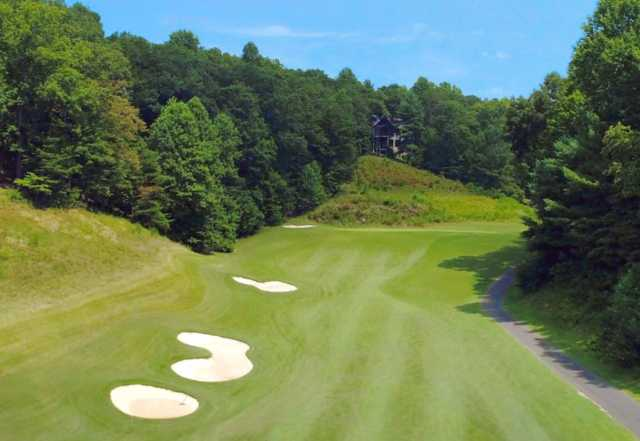 A view of hole #1 from Cherokee at Big Canoe Golf Club.
