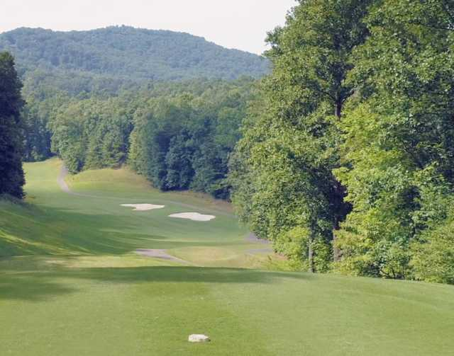 A view from tee #5 at Cherokee from Big Canoe Golf Club.