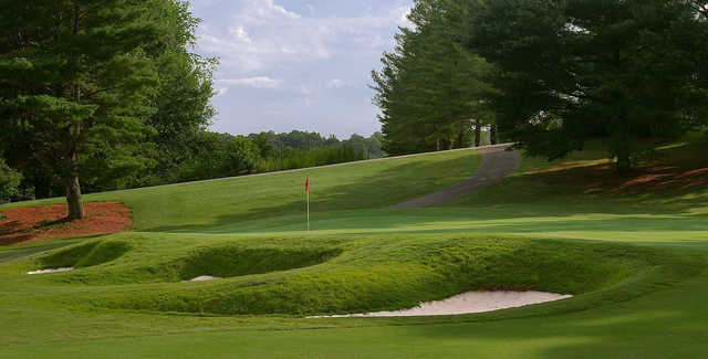 A view of a hole at Cross Creek Country Club.