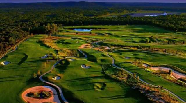 Aerial view from the RedBud Course at WinStar