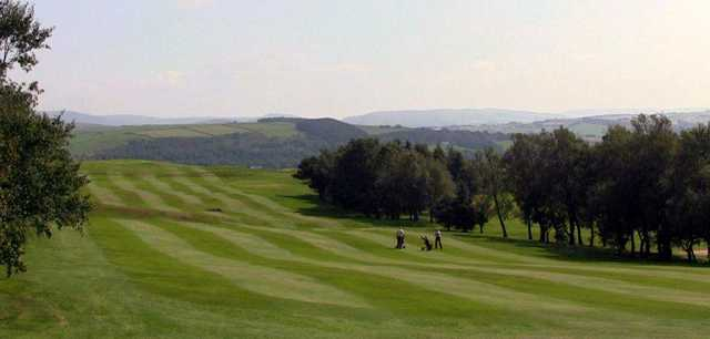 View of the 1st fairway at Werneth Low Golf Club.