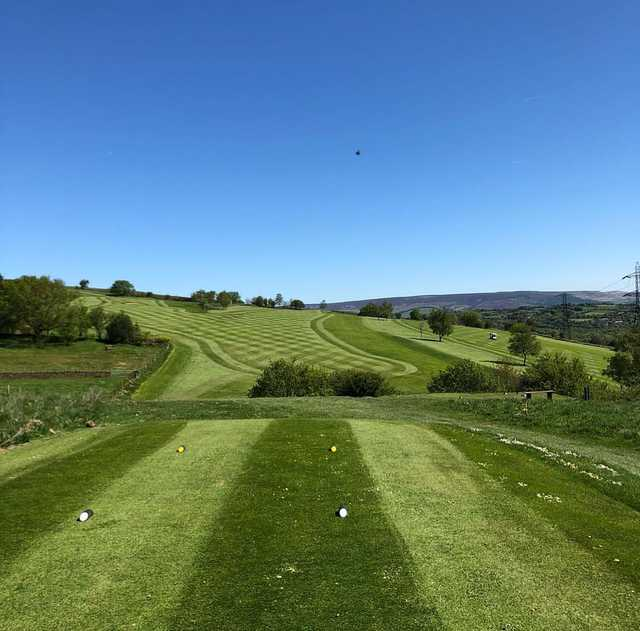 A view from a tee at Werneth Low Golf Club