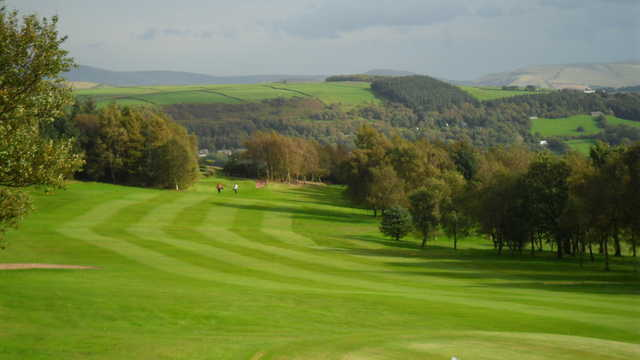 View of the 2nd fairway at Werneth Low Golf Club.