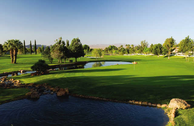 A view of the 7th green at Boulder City Golf Course.
