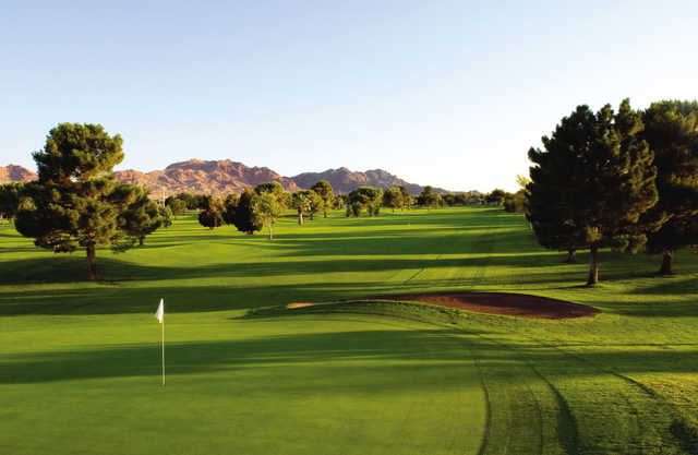 A view of green #5 at Boulder City Golf Course.