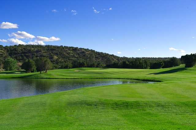 A view of the 4th hole at Cochiti Golf Club.