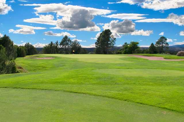 A view of the 11th hole at Cochiti Golf Club.