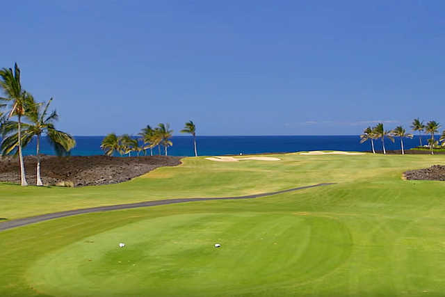 A view from the 7th tee at Beach Course from Waikoloa Beach Resort.