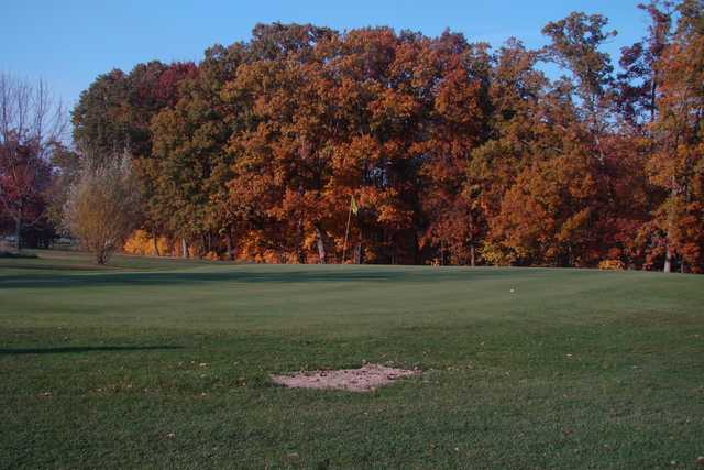 A view of a hole at Bent Tree Golf Course.