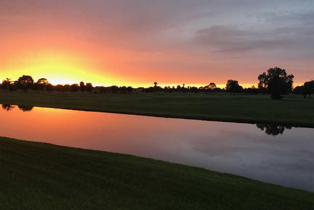 Sunset view from Sebring International Golf Resort