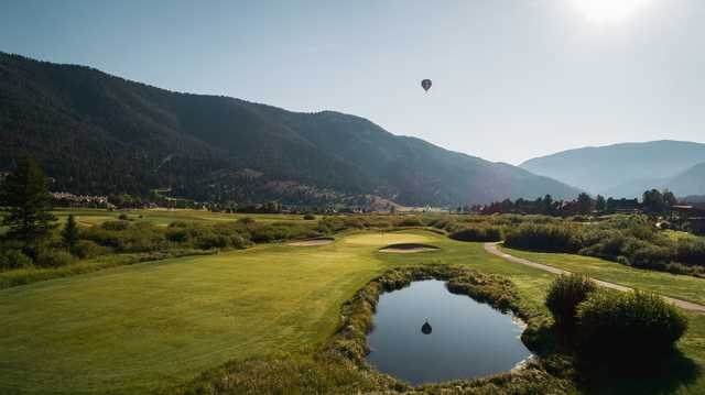 A view of a fairway at Big Sky Resort Golf Course.