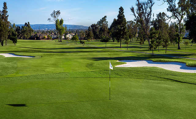 A view of a green at Chester Washington Golf Course.