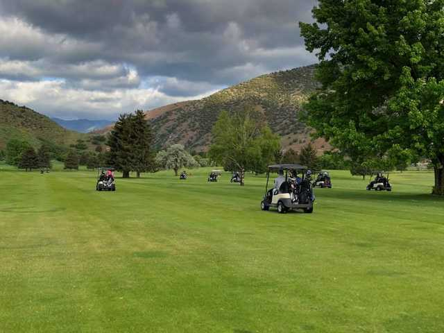A view from a fairway at Round Valley Golf Course.