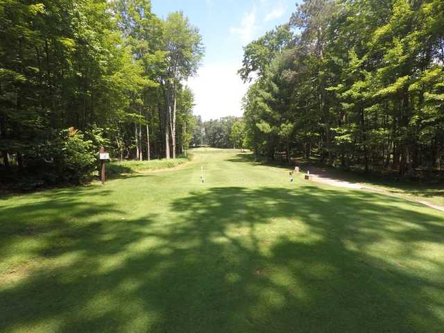 View from a tee at Marquette Trails Golf Club.
