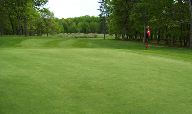 A view of a hole at Marquette Trails Golf Club.