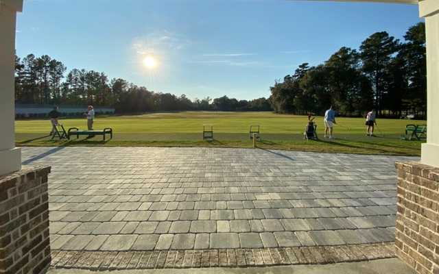 View from the driving range at the Richmond Hill Golf Club