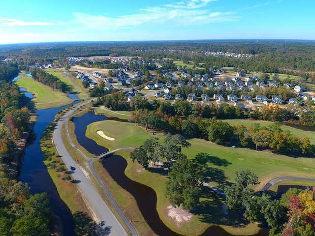 Aerial view of the Richmond Hill Golf Club.