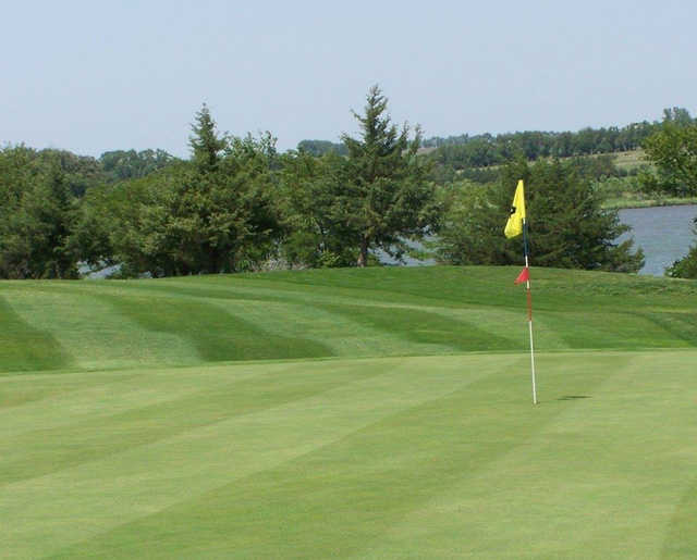 View from a green at Kirkman's Lakeview Golf Course