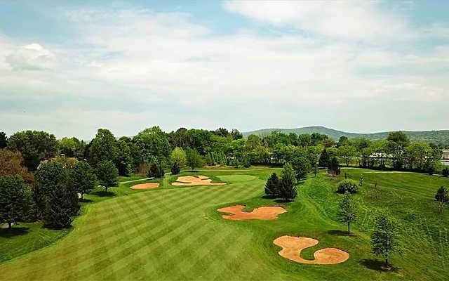 A view of a fairway at Richland Golf Club.