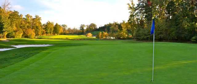 A view of a green at Broad Run Golf & Practice Facility.