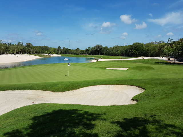 Looking back from 5th green at the Gran Coyote Golf Riviera Maya.