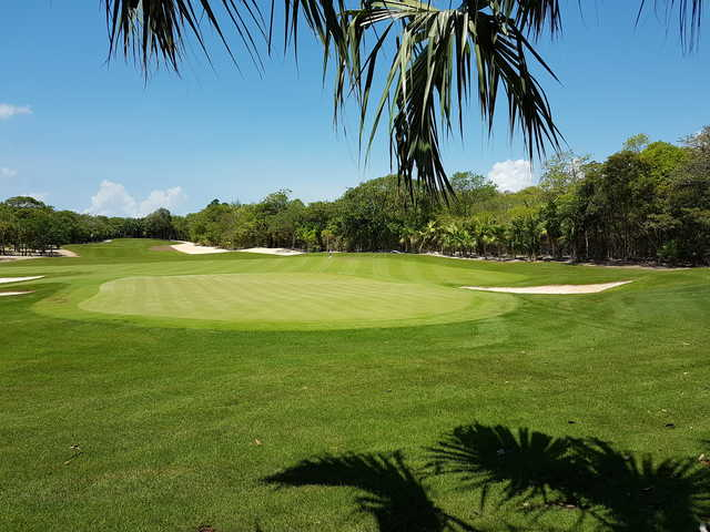 Looking back from 14th green at the Gran Coyote Golf Riviera Maya.