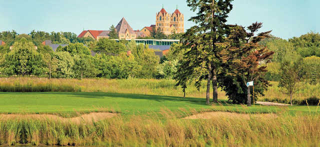 A view of a green at Anetsberger Golf Course.
