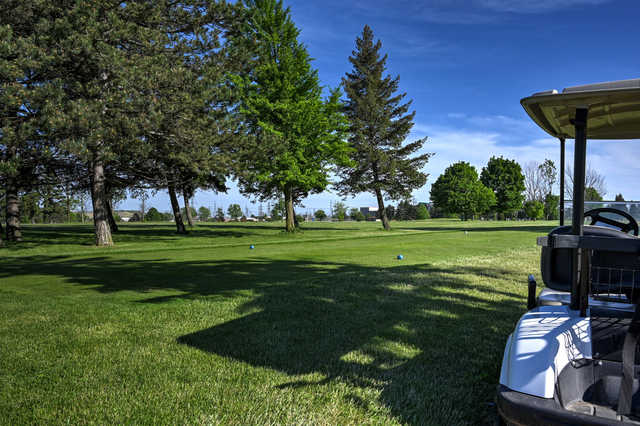 View of a teen from North at Hyde Park Golf Course.