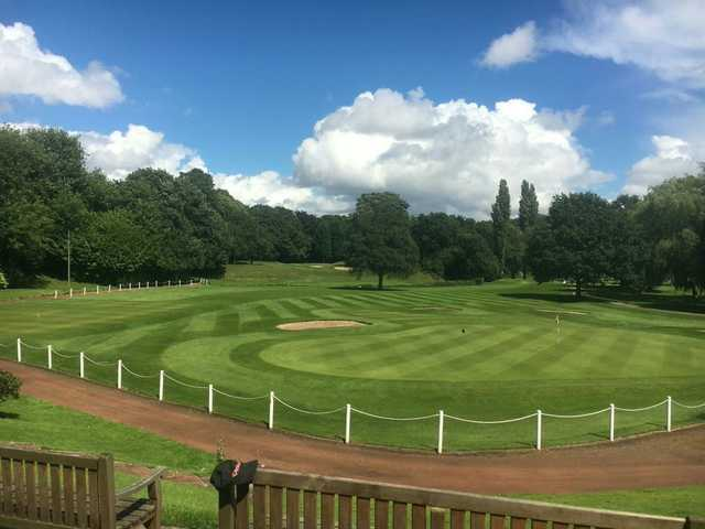 View of a green at Withington Golf Club