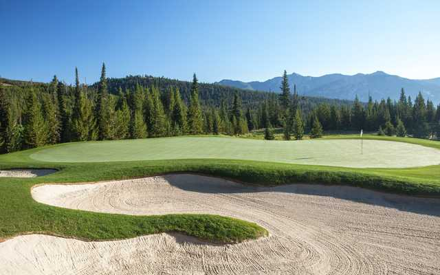 A view of the 10th hole at Spanish Peaks Mountain Club.