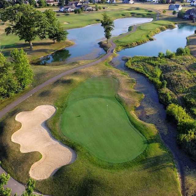 Aerial view of #13 at Grey Hawk