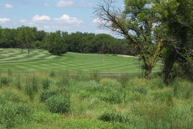 A view of a fairway at Turkey Creek Golf Course.