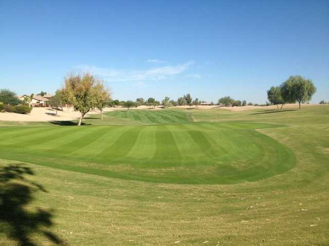 A view of the 1st hole at Lone Tree Golf Club.