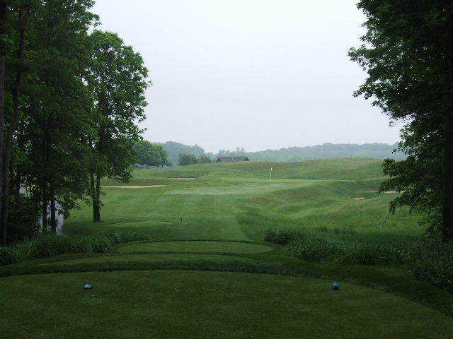 The par-3 3rd hole at Meadow Valleys at Blackwolf Run (Photo by B. Tucker)