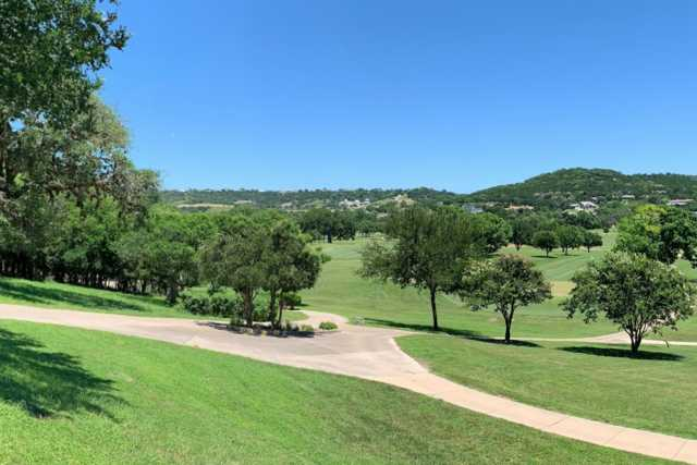 A sunny day view from Scott Schreiner Golf Club.