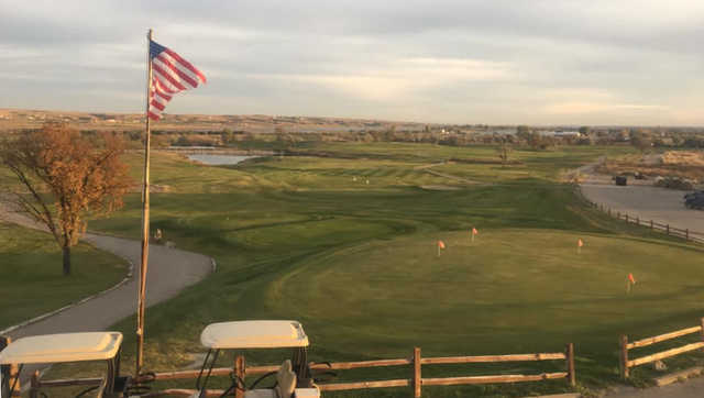 View from the clubhouse at Eagle Ridge Golf Club.