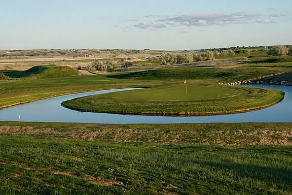 A view of the 7th green at Eagle Ridge Golf Club.