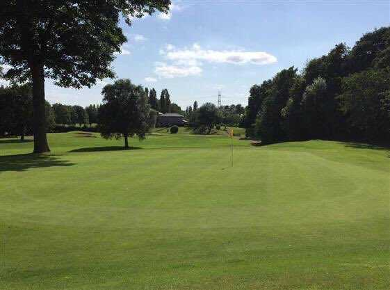 View of a green at Withington Golf Club.