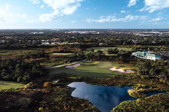 Aerial view from Jensen Beach Golf Club
