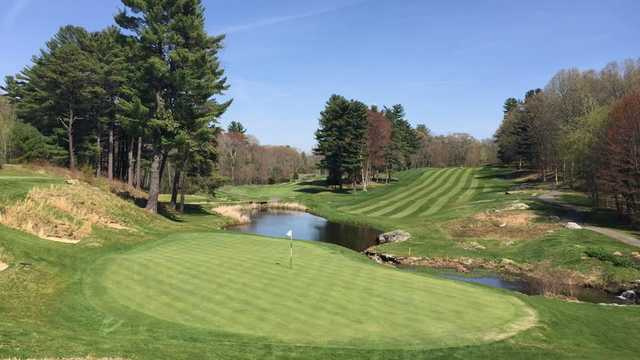 Looking back from 18th green at The New England Country Club.