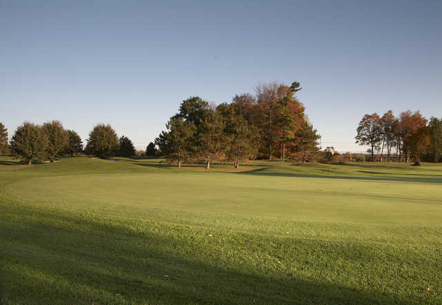 A view of a green at Upper from Remington Parkview Golf and Country Club.