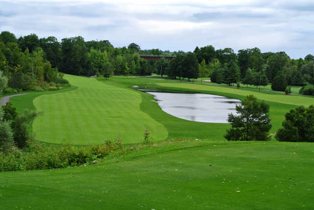 A view of two fairways at Valley from Remington Parkview Golf and Country Club.