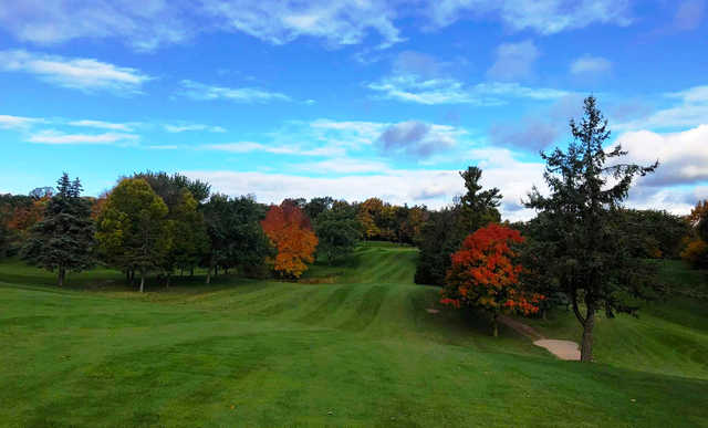 A view of a tee at Tyandaga Golf Course.