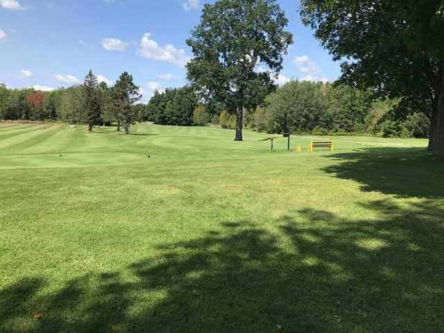 A view of a tee at Upper Canada Golf Course.