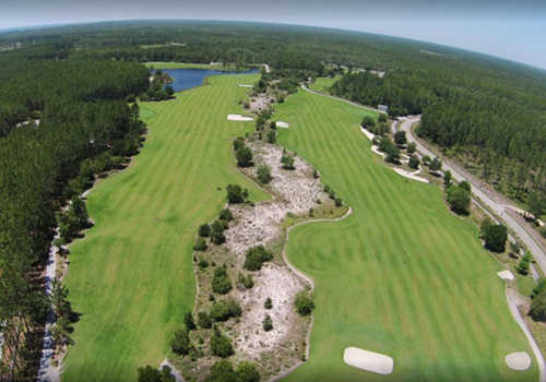Aerial view from Origins Golf Club
