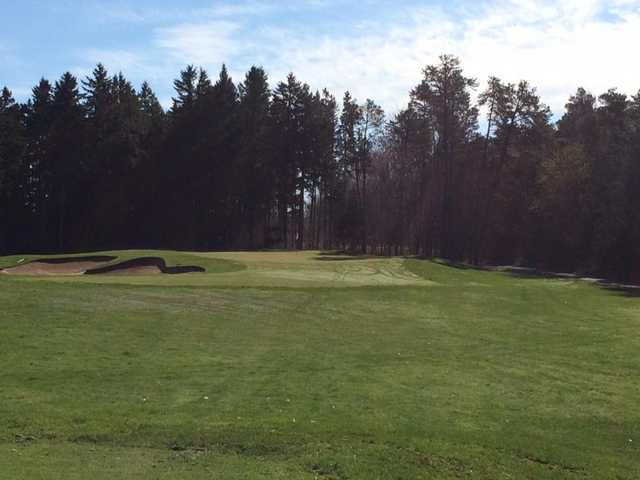 A view of a green at Ballantrae Golf Club.