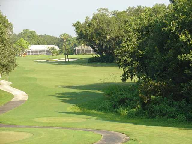 A view from tee #2 at The Club at River Wilderness.