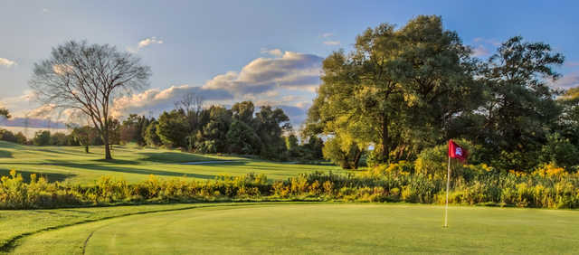 A view of a green at Emerald from Deer Creek South Course.