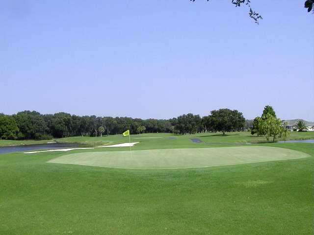 A view of green #17 at The Club at River Wilderness